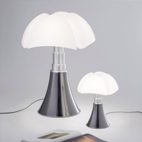 lampe poser mini pipistrello led martinelli luce titane