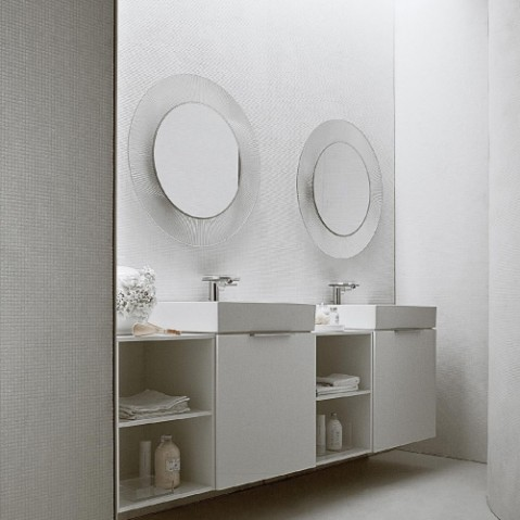 miroir all saints kartell ambre transparent