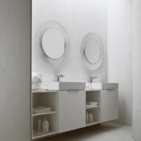miroir all saints kartell chrome metallise
