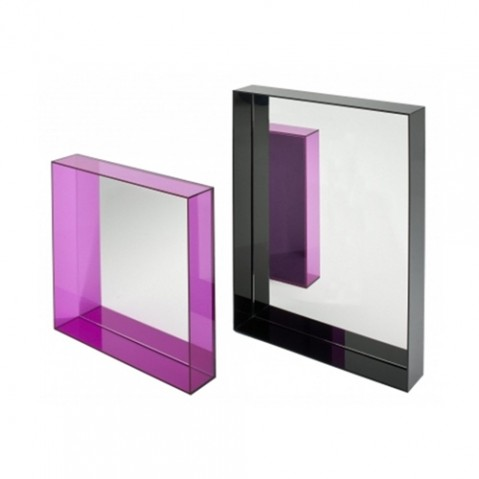 miroir only me kartell bleu transparent