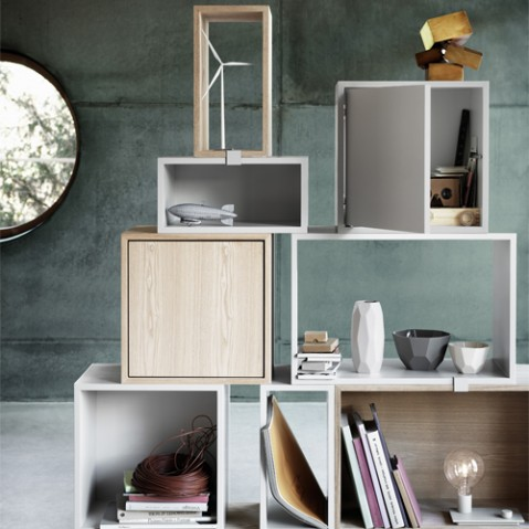 etagere stacked porte muuto gris fonce