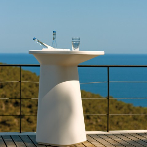 Moma High Table Outdoor Vondom Blanc