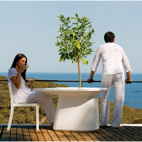 Moma Table Medium Outdoor Vondom Blanc