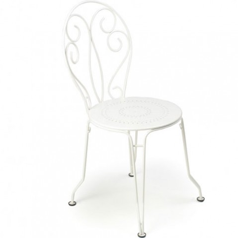 Montmartre Chaise Empilable Design Fermob Blanc