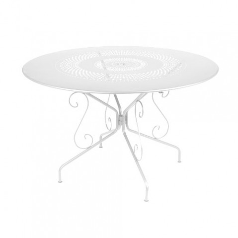 Montmartre Table Ronde 117 cm Design Fermob Blanc