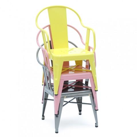 Mouette Fauteuil enfant Design Tolix Brut Verni Brillant