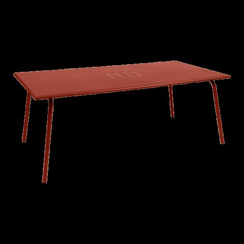 TABLE MONCEAU 194X94X74 OCRE ROUGE de FERMOB