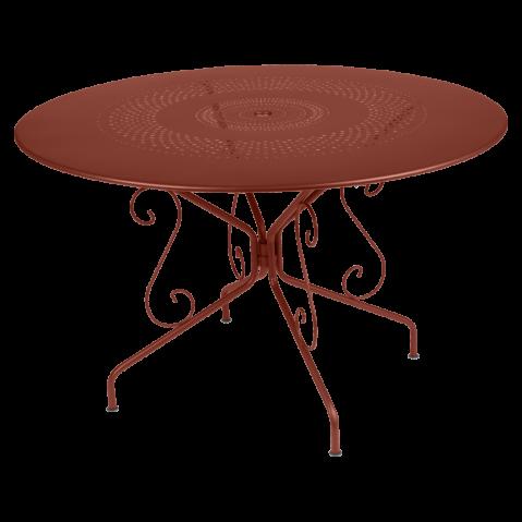 TABLE MONTMARTRE Ø117 Ocre rouge de FERMOB