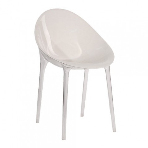 Mr Impossible Fauteuil Design Kartell Opaque Blanc