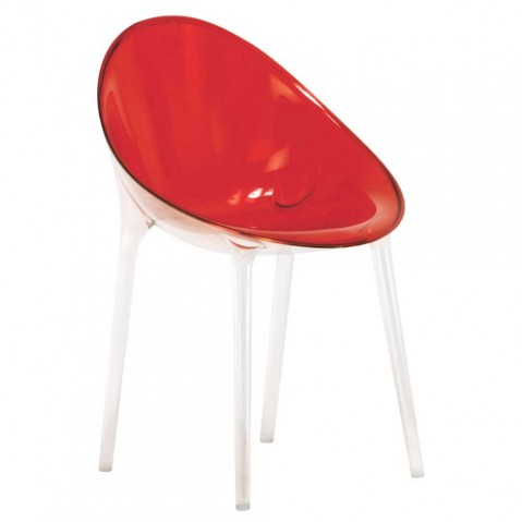 Mr Impossible Fauteuil Design Kartell Rouge Orangé
