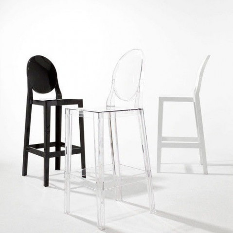 one more kartell tabouret h75 blanc