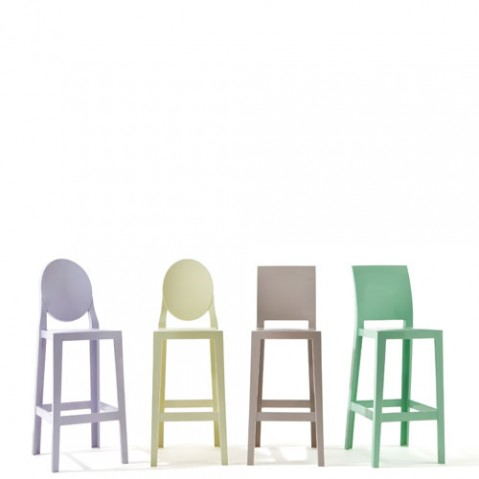 one more kartell tabouret h65 blanc