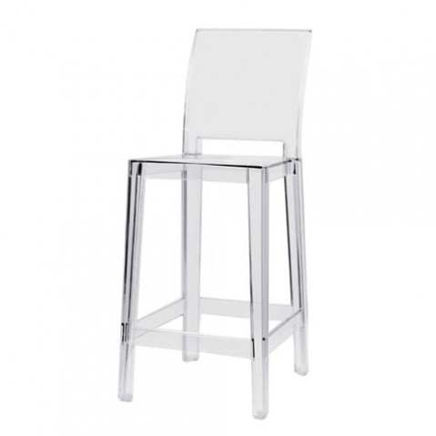 one more please kartell tabouret h75 cristal