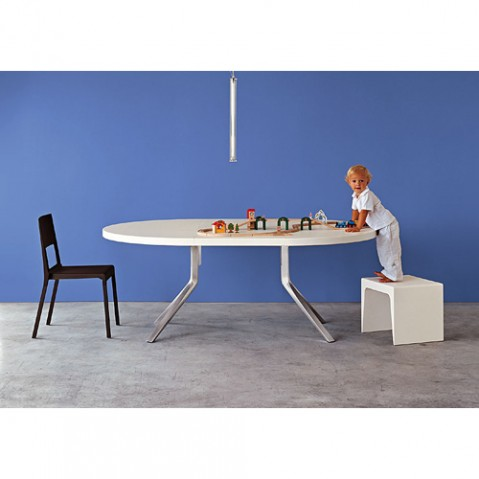 Kristalia table extensible Oops blanc