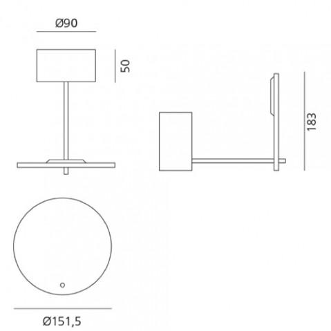 plafonnier orbiter artemide