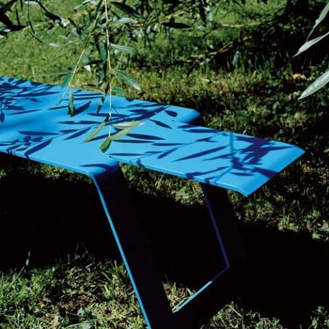origami fermob banc design gris metal