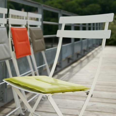bistro fermob pack de 2 chaises design gris orage