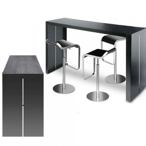Panco Table Haute 180 cm Design La Palma Noir