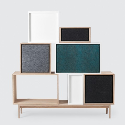 panneau isolation stacked medium muuto noir
