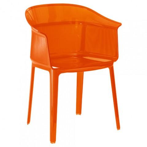 Papyrus Fauteuil Design Kartell Rouge Orange