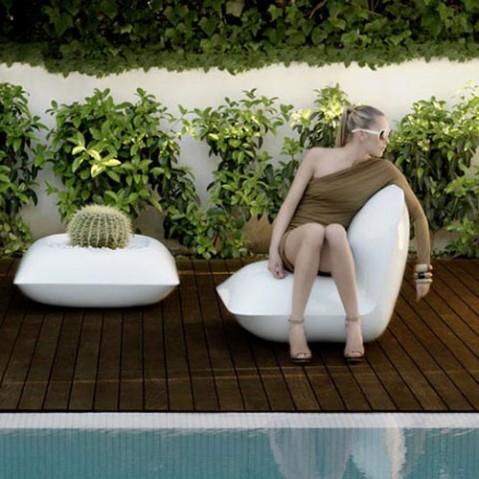 Pillow Fauteuil Design Vondom Blanc