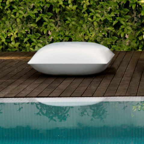 Pillow Pouf Design Vonbdom Blanc