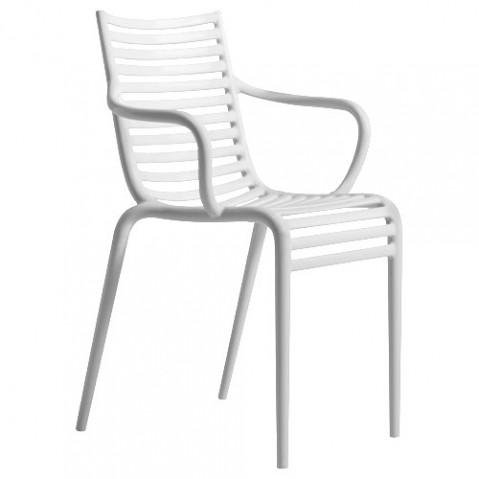 Pipe-e Driade fauteuil design blanc