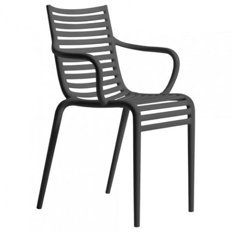 Pipe-e Driade fauteuil design gris