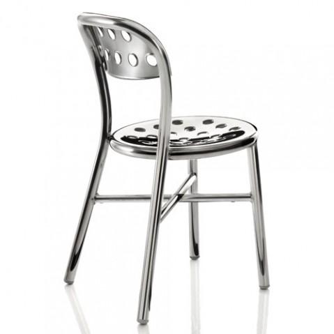 Pipe chaise design Magis aluminium poli