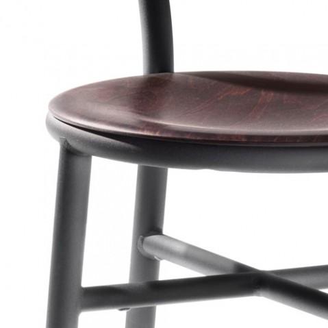 Pipe chaise design magis noir hetre foncé