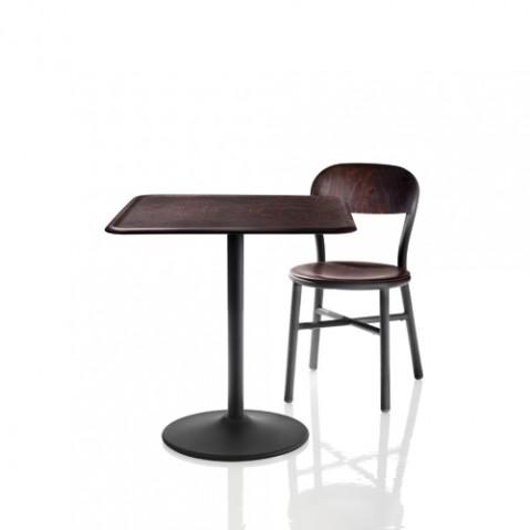 Pipe Table Carrée Magis Hetre Foncé