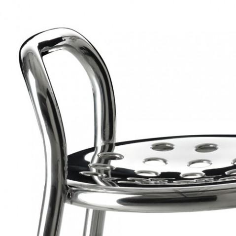 Pipe tabouret magis aluminium poli