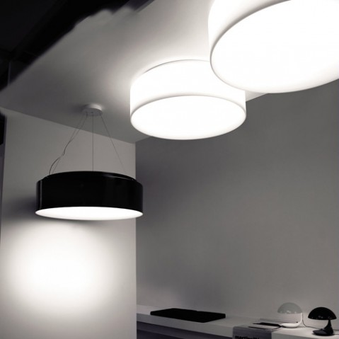 plafonnier hole light 120 martinelli luce noir