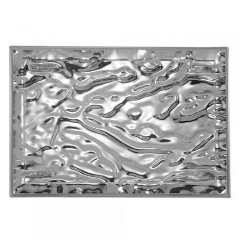 plateau dune metallise 55 kartell chrome