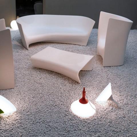 Plié Driade fauteuil design blanc