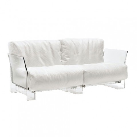 Pop Outdoor Canapé Design Kartell Transparent Blanc