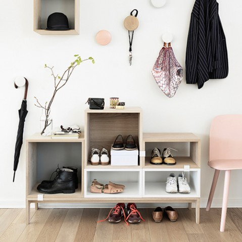 porte manteaux the dots muuto chene naturel