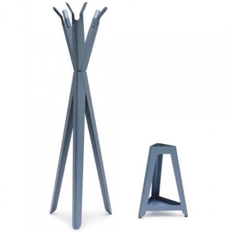 porte parapluies family tree tolix bleu acier