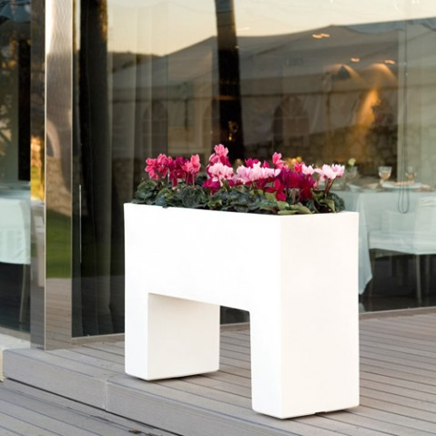 pot fleurs aire muro vondom blanc