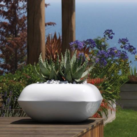 pot fleurs pillow vondom blanc mat