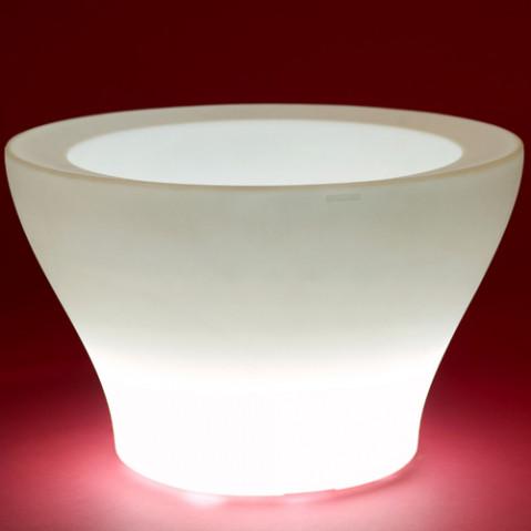 pot lumineux centro alto vondom blanc