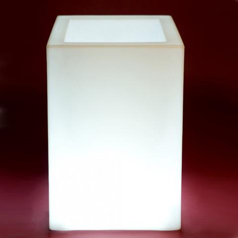 pot lumineux cubo alto vondom blanc
