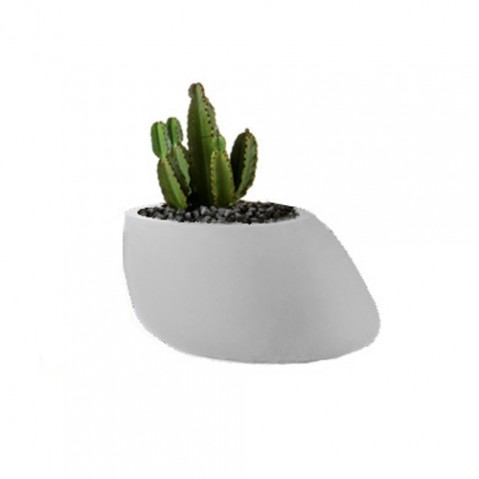 pot fleurs stones 40 vondom blanc