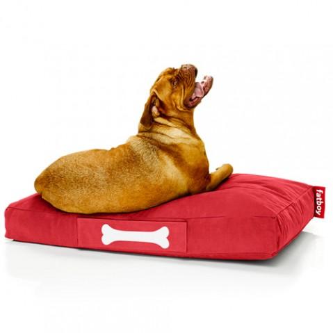 pouf doggie lounge large stonewashed fatboy rouge