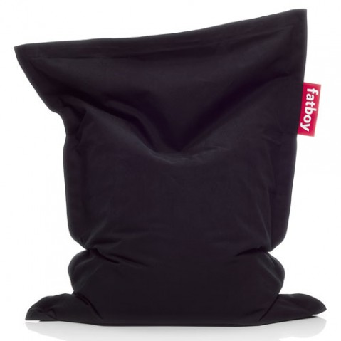 pouf junior stonewashed fatboy black