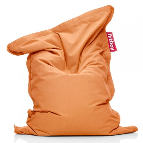 pouf junior stonewashed fatboy orange