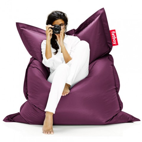 pouf original fatboy dark purple