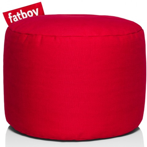 pouf point stonewashed fatboy red
