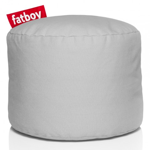 pouf point stonewashed fatboy silver grey