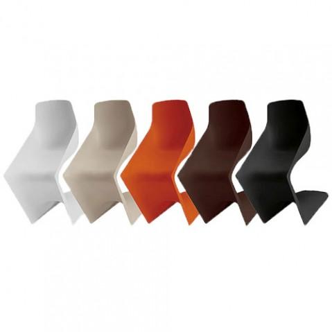 Pulp Chaise Design Kristalia Rouge Corail